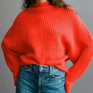 NWT Anthro Maeve Athena Chunky Knit Cowl Sweater